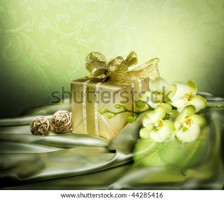 St.Valentine's Day Present.Vintage style - stock photo