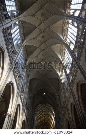St. Vitus cathedral in Prague - arch in interior