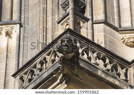 St. Vitus cathedral in Prague Castle in Prague, Czech Republic - stock photo