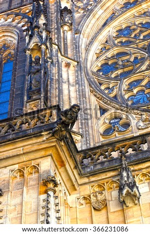 St. Vitus cathedral in Prague Castle in Prague, Czech Republic