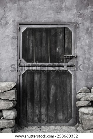 Stable Door - stock photo