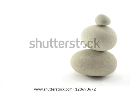 Stable tower of stone that represents safety and stability