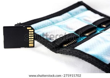 Stack Bag memory SD card - stock photo