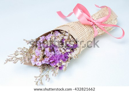 Stack Image : Bouquet of flower lavender flower purple color  isolated on white background - stock photo