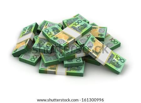 Stack of Australian Dollar - stock photo