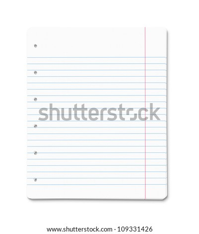 Stack of blank paper sheets isolated on white background with clipping path - stock photo