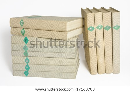 stack of books isolated on white background. clipping path included. - stock photo