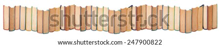Stack of books on white. - stock photo