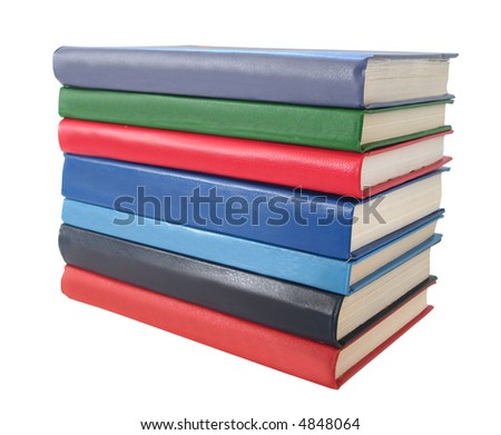 stack of books over white background - stock photo