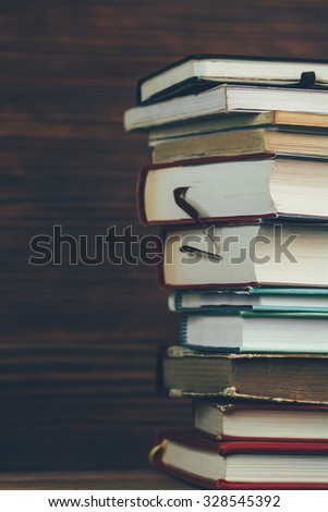 Stack of books vertical