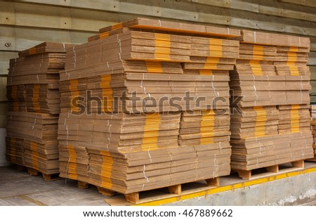 stack of box, waiting for delivery in a warehouse