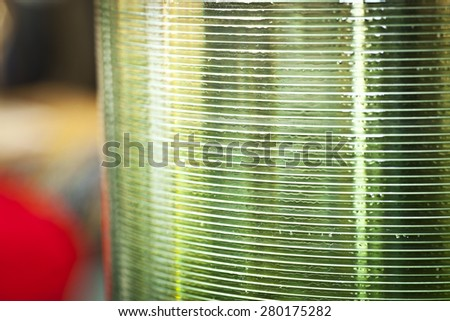 Stack of CD's on a spindal - stock photo