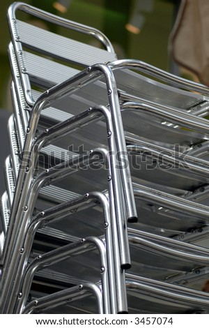 Stack of Chairs - stock photo
