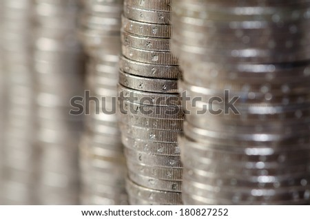 stack of coins background image - stock photo