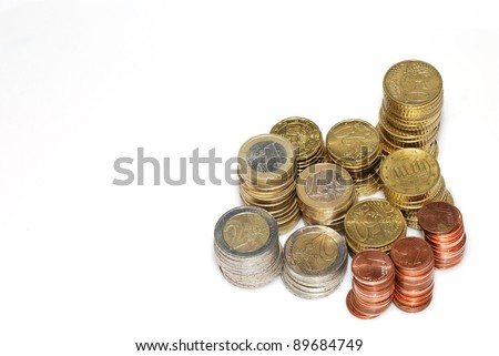stack of coins expenditure and revenue