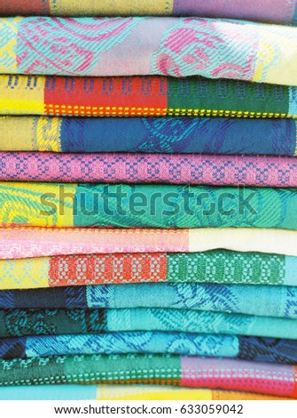 Stack Colorful Patterned Blankets Stock Photo Royalty Free Gorgeous Patterned Blankets
