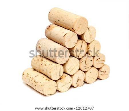 Stack of corks - stock photo