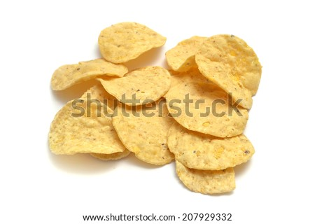 stack of crispy chips - stock photo