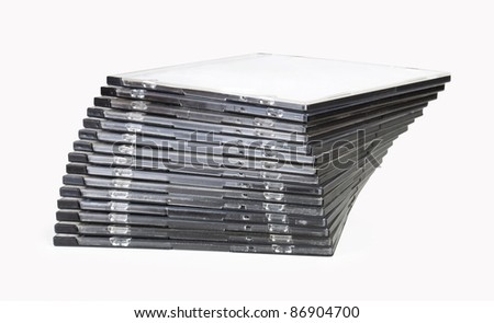 stack of disk isolated on white background