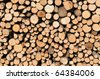 stack of dried firewood - stock photo