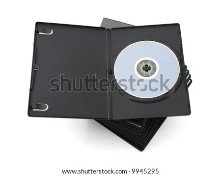 Stack of dvd, isolated on white background