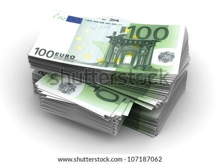 Stack of Euro - stock photo