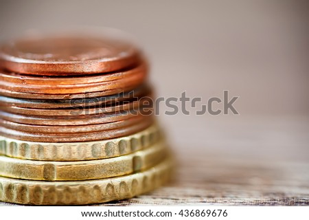 stack of european currency. finance concept