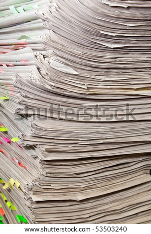 Stack of files - stock photo