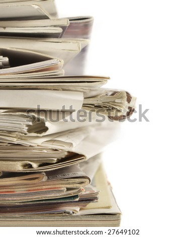 Stack of files and paperwork - stock photo