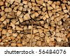 Stack of firewood for the winter - stock photo