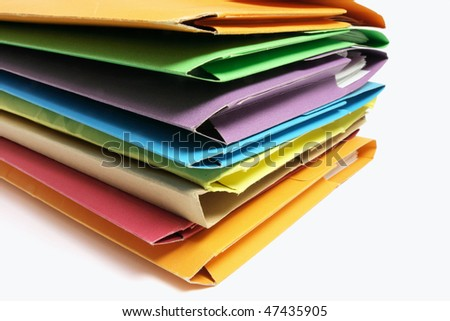 Stack of Folders on Seamless Background
