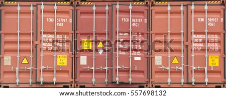 Stack of Freight Containers Background