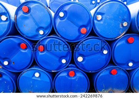 Stack of  gallon water bottles - stock photo