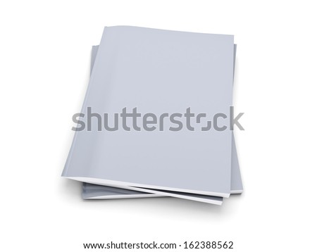 Stack of grey notebook isolated on white background - stock photo