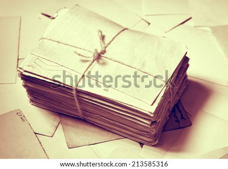 Stack of letters - stock photo