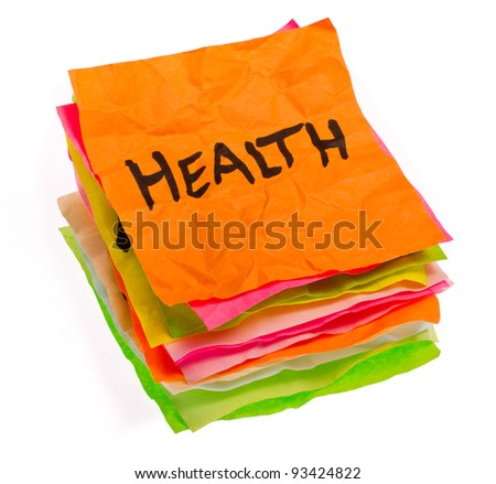 stack of life options and choices isolated on white - stock photo