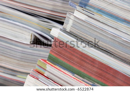 Stack of magazines and catalogs