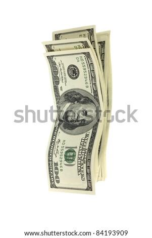 stack of money isolated on white - stock photo