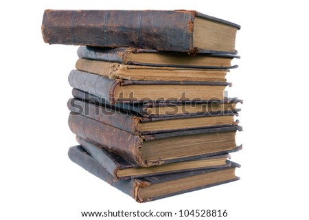 stack of old book-1 isolated
