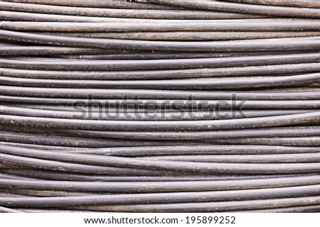 Stack of old watering hoses - stock photo