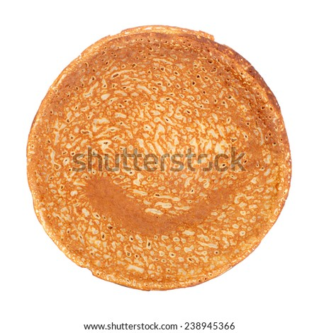 stack of pancakes for the Mardi gras - stock photo