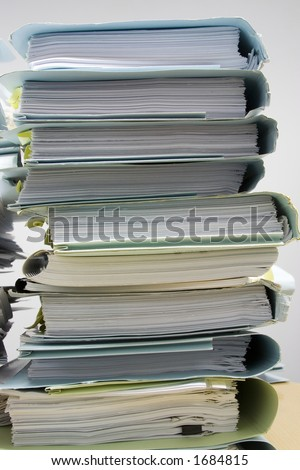 Stack of paper files - stock photo