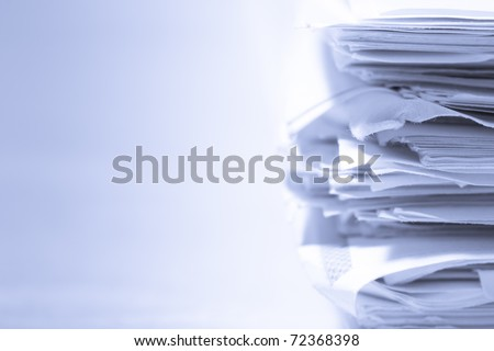Stack of papers - stock photo