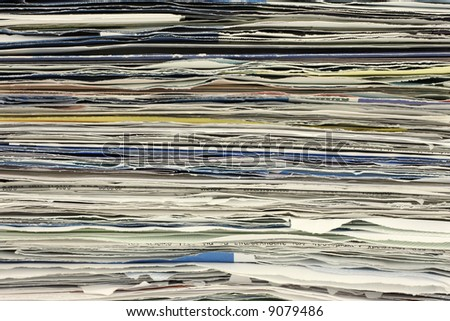Stack of papers close up - stock photo