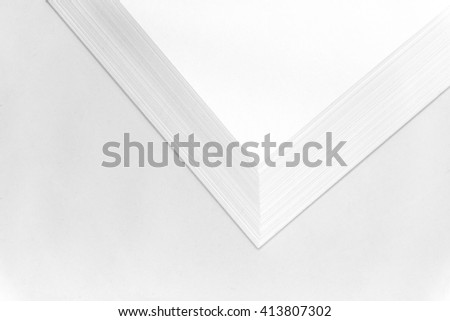 Stack of papers on white background / Stack Papers  - stock photo