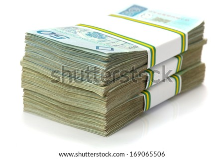Stack of polish zloty banknotes - stock photo