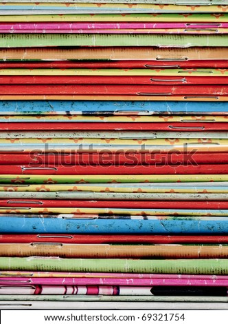 Stack of recycle magazines - stock photo