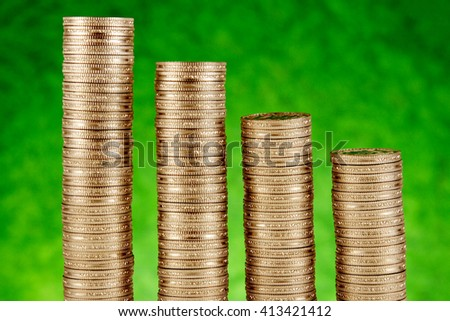 Stack of rupee coins