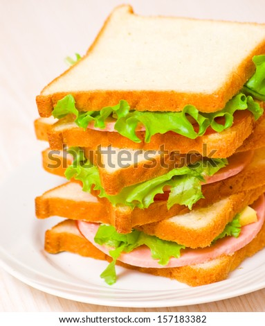stack of sandwiches