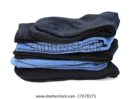 stack of socks - stock photo